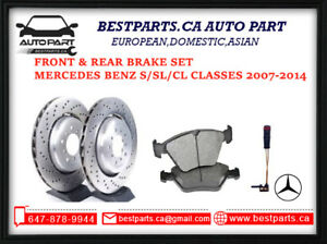 Front and Rear Brake set for S class 2007-2014 S350/S400/S450