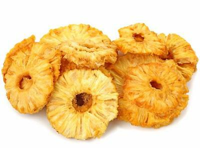 DRIED PINEAPPLE RINGS NATURAL 2 LBS.  FREE SHIPPING!!!