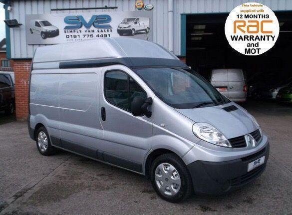 2010 RENAULT TRAFIC LWB H/R IN SILVER WITH AIR CON AND ELECTRIC PACK CHOICE OF