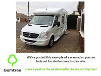 Auto Sleeper Devon Mercedes Benz Sprinter -- Read the ad description before replying!!
