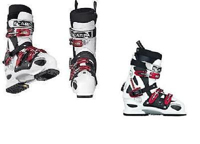 Scarpa Tornado White Ski Boots Allmountain Freeride Size Mp30 Ski (All Mountain Freeride Boot)