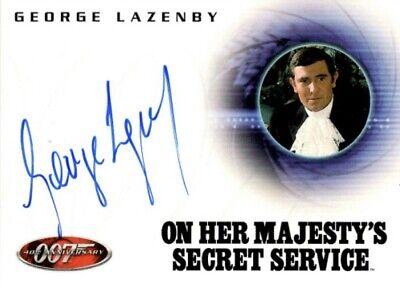 James Bond, 2002 40th Anniversary Autograph Card, A6 George Lazenby / James Bond