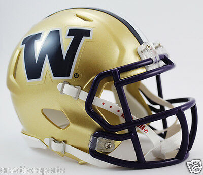 Washington Huskies Riddell Speed Football Mini Helmet In Riddell Box