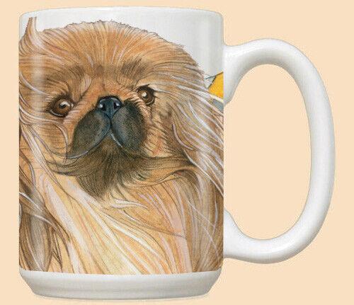 Pekingese Ceramic Coffee Mug Tea Cup 15 oz