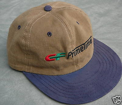 Brushed Twill Hat (Brown & blue brushed twill ball cap hat CF Primetime Consolodated Freightways)