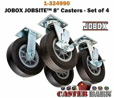 Casterhq Heavy Duty Caster Wheel Set 8 Inch Set Of 4 New In Box