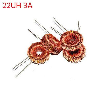 10pcs Toroidal Chokes 22uh 3a Coil Wire Wrap Toroid Inductor Choke