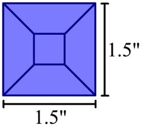 Colored Bevels -1.5x1.5 Bevels-Box of 30 - BLUE
