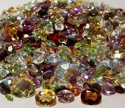 50+ CARAT MIX LOT LOOSE FACETED NATURAL GEMSTONES MIXED GEMS
