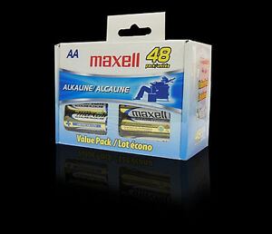 Maxell 723443 AA Alkaline Battery 48 pack