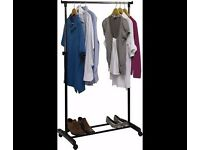 Argos Adjustable Chrome Plated Clothes Rail for Sale - Black