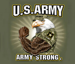 U-S-Army-Strong-Muscle-Eagle-OLIVE-GREEN-Adult-T-shirt