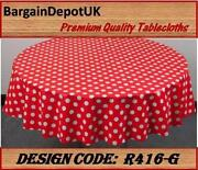 Round Wipe Clean Tablecloth