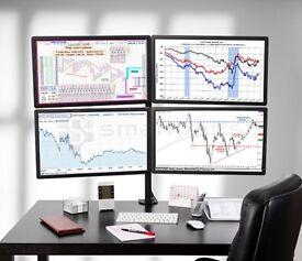 "4 monitors iiyama ProLite E2483HS 24"" Widescreen LED Monitor, with quad stand"