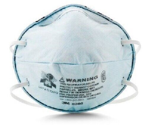 1 Box of 20 Each 3M 8246 R95 Particulate Respirator (See listing and pictures)