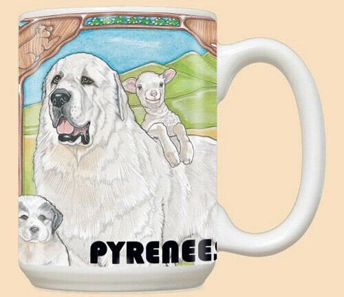 Great Pyrenees Ceramic Coffee Mug Tea Cup 15 oz