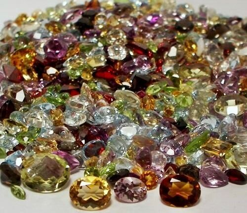 100+ CT MIX LOT LOOSE FACETED NATURAL GEMSTONES MIXED GEMS W