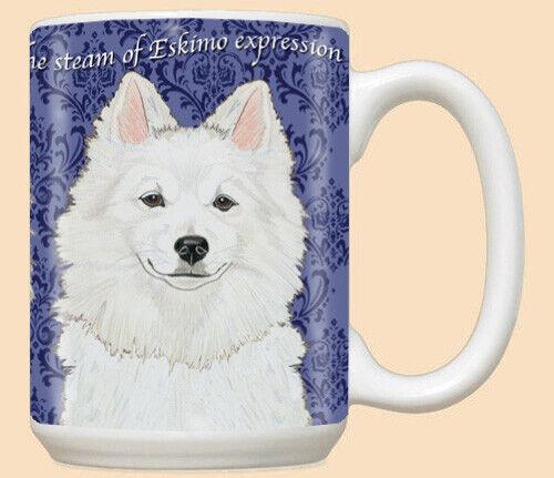 American Eskimo Eskie Dog Ceramic Coffee Mug Tea Cup 15 oz