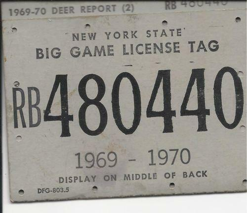 Vintage ny hunting license ebay for New york fishing license online