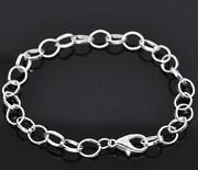 Silver Charm Bracelet Chain
