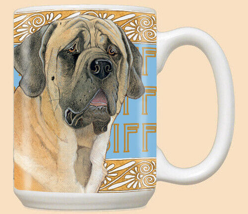 Mastiff Ceramic Coffee Mug Tea Cup 15 oz