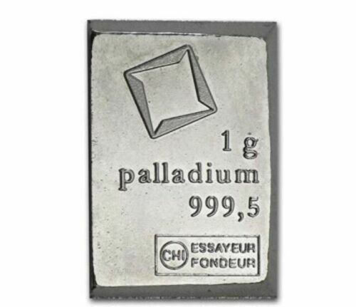 1 GRAM VALCAMBI .9995 FINE PALLADIUM BULLION BAR
