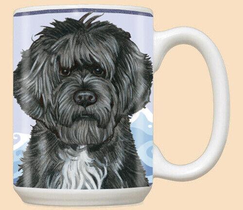 Portuguese Water Dog Portie Dog Ceramic Coffee Mug Tea Cup 15 oz