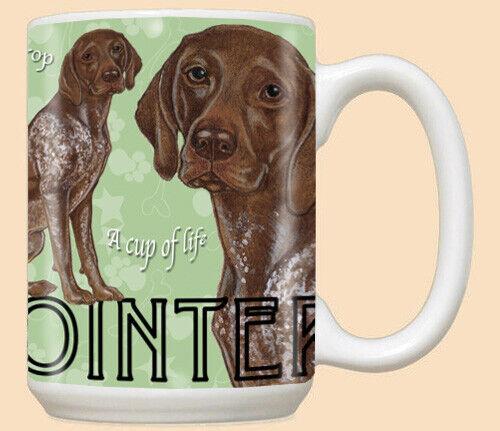 German Pointer Ceramic Coffee Mug Tea Cup 15 oz