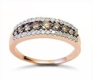 rose gold chocolate diamond ring - Chocolate Diamond Wedding Ring
