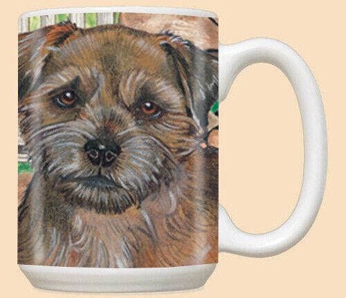 Border Terrier Ceramic Coffee Mug Tea Cup 15 oz