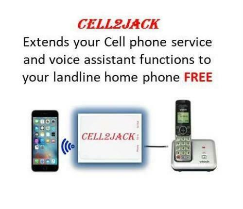 Cell2Jack -Cellphone to Home Phone Adapter - Make and Receive Cell Phone Call on