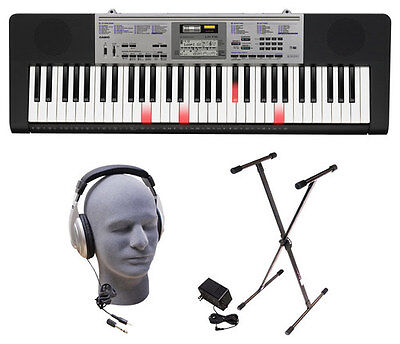Casio LK-175 PPK 61-Key Premium Lighted Keyboard Pack with S