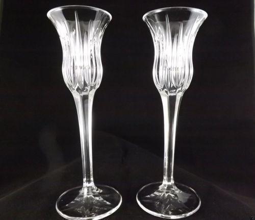 Tall Crystal Candlesticks Ebay
