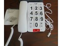 LOGIK CORDED BIG BUTTON PHONE WITH SPEAKER PHONE