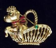 Trifari Dog Brooch