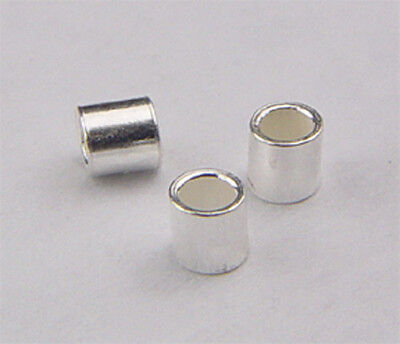 925 sterling silver crimp beads 2x2mm @1000 pieces