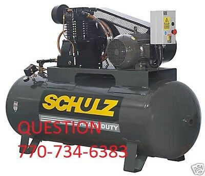 Schulz Air Compressor 10hp 40 Cfm 175 Psi 120 Gallon New