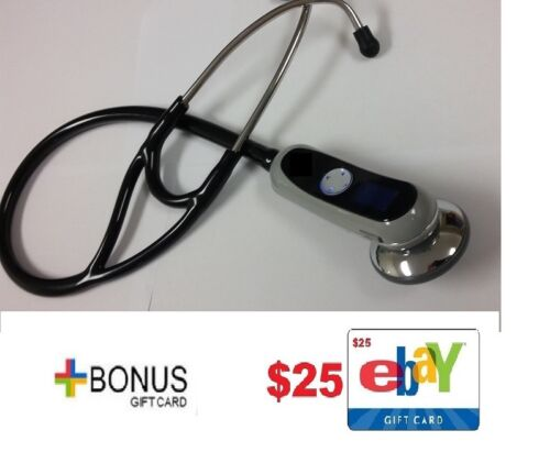 "NEW ADC 658 Electronic Digital BLACK Stethoscope ""Littmann"" Style w/ $25 Gift !!"