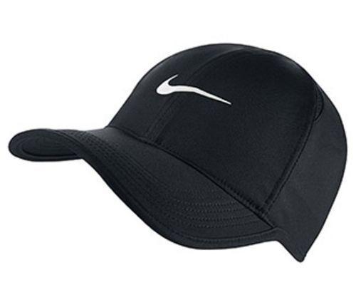 nike dri fit feather light running tennis hat cap black. Black Bedroom Furniture Sets. Home Design Ideas