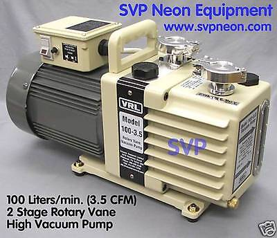 3.5 Cfm100 Lmin 2 Stage Neon Sign Vacuum Pump Equipment Manifold Supply