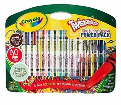 Crayola Twistables Sketch and Draw Power Pack 40Pc Piece Set Gift Xmas Gift