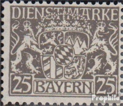 Beieren D21I, Flag de 5 in twee Gust gestaakt postfris 1916 Staatsembleem