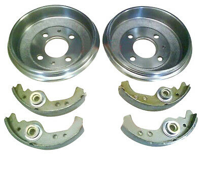 FIAT SEICENTO ALL MODELS 1998 2004 REAR 2 BRAKE DRUMS  SET OF SHOES NEW SET