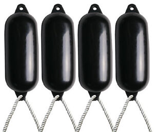 4-X-Majoni-Black-Boat-Fenders-Inflated-Size-5-Free-Rope