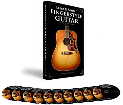 HAL LEONARD LEARN AND & MASTER FINGERSTYLE GUITAR W/ STEVE KRENZ  9 DVD + 1 CD on Rummage