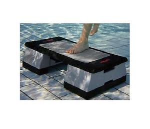 Water aerobics exercise aquatic aqua step pool fitness dumbbells belt swim new ebay for Flotation belt swimming pool exercise equipment