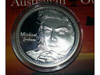 """RARE. Michael Jackson 'The King of Pop """" Uncirculated coin"""
