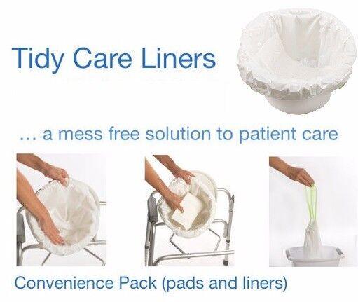 Sani Bag Bedside Toilet Commode Liner X 24 Pack Bowl Abso...