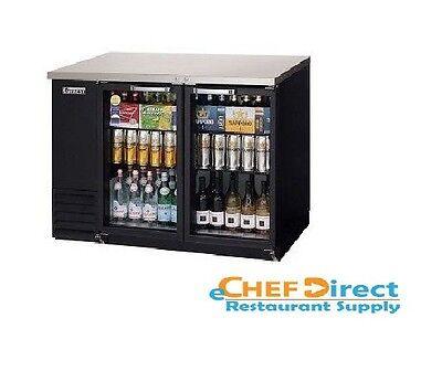 Everest Ebb48g-24 Back Bar Cooler 2 Glass Door Refrigerator
