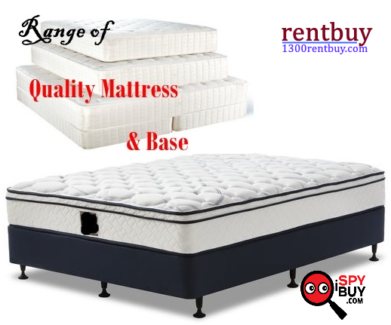 Queen Ensemble Bed & Base New**Rent Buy from $10 weekly